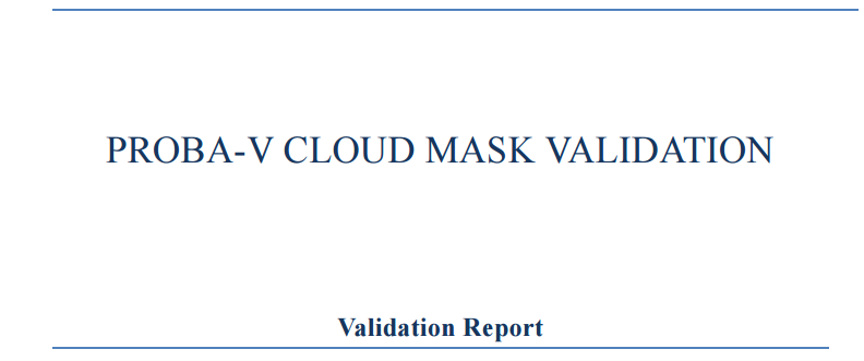 Cloud Mask Validation