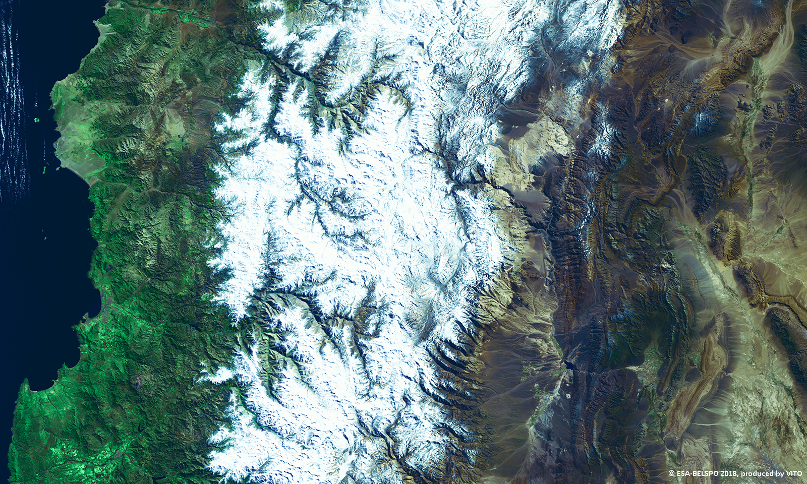 the Andes, Chile-Argentina