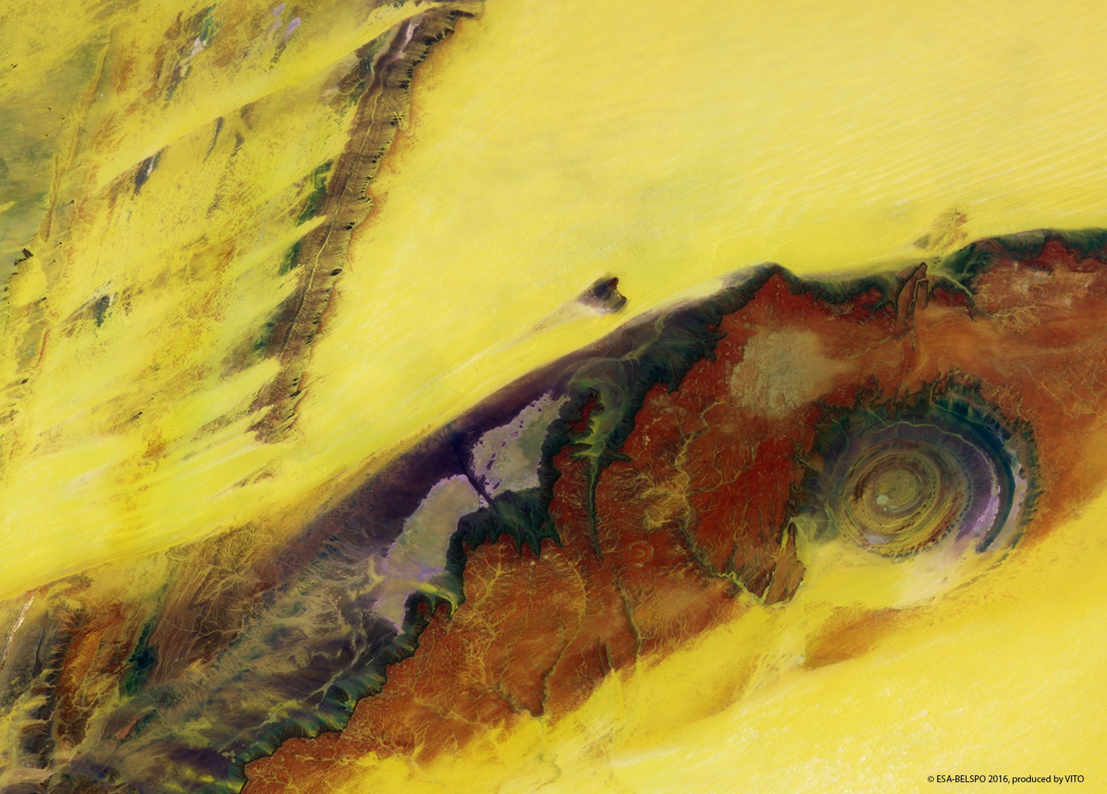 Eye of the Sahara, Mauritania