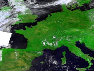 Europe's heat wave from space