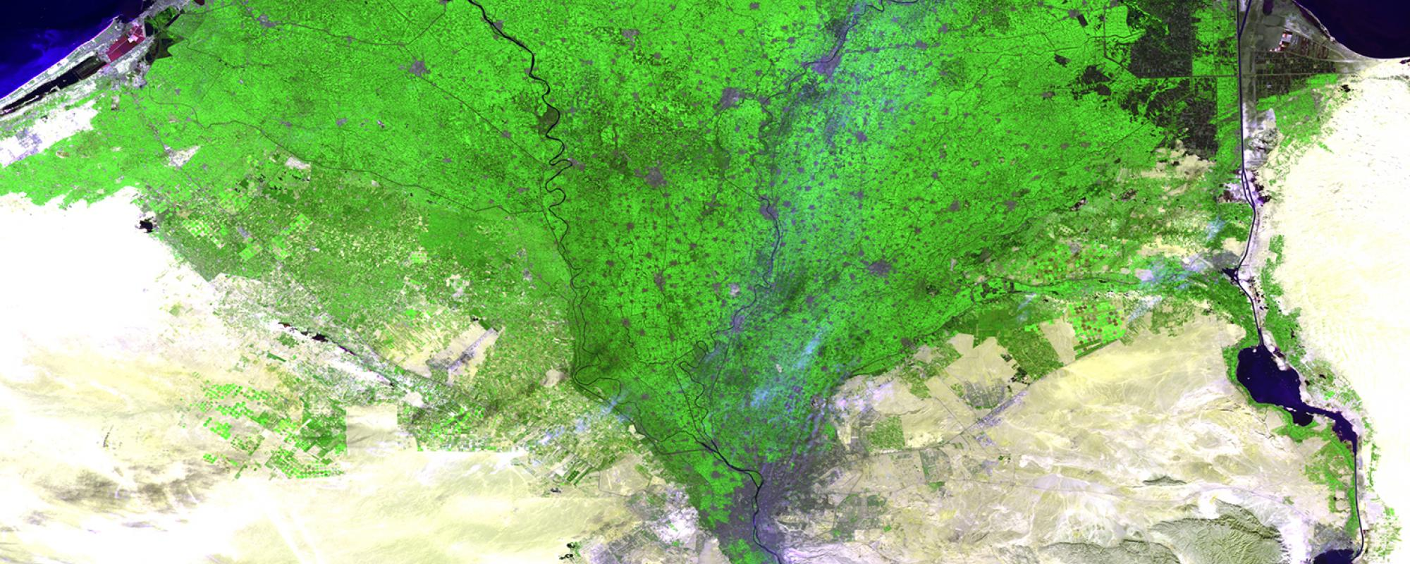 The Nile delta, a dynamic area